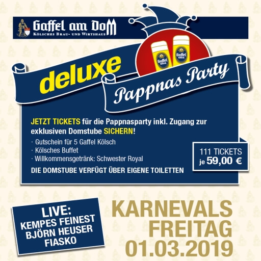 "Pappnasparty ""deluxe"" 01.03.2019"