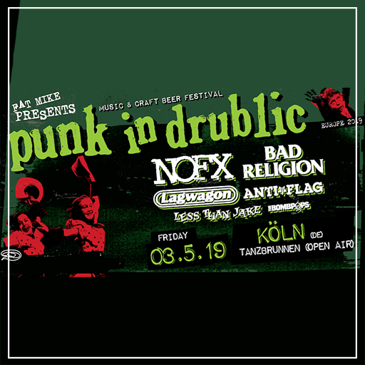 PUNK IN DRUBLIC 2019 Nofx, Bad Religion, Lagwagon, Less Then Jake